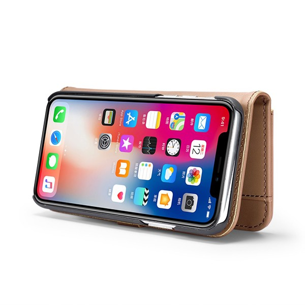 2i1 Etui m/3 kortlommer Lux iPhone X/Xs Beige