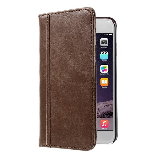 Bok Etui m/kortlommer for iPhone 6 Brun