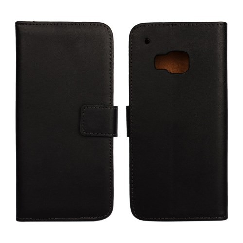 Lommebok Etui for HTC One M9 Genuine Svart