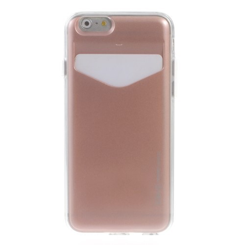 Deksel for iPhone 6/6s m/kortlomme Rosa