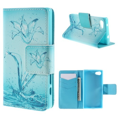 Lommebok Etui for Xperia Z5 Compact Art Water Flower