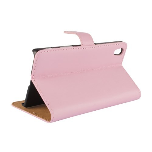 Lommebok Etui for Xperia Z5 Genuine Lys Rosa