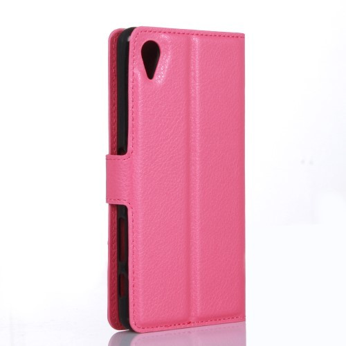 Lommebok Etui for Sony Xperia X Lychee Rosa