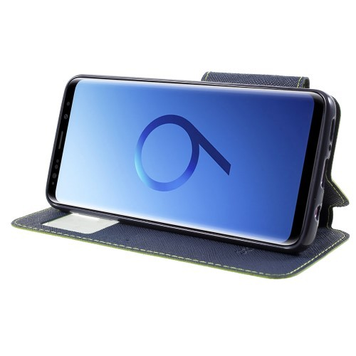 Slimbook Etui for Galaxy S9 Roar m/Skjermvindu Lime Grønn