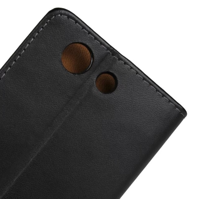 Lommebok Etui for Xperia Z3 Compact Genuine Svart