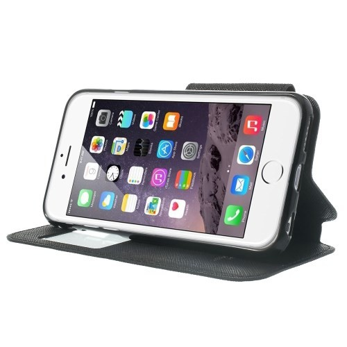Etui for iPhone 6 Roar m/Skjermvindu Svart