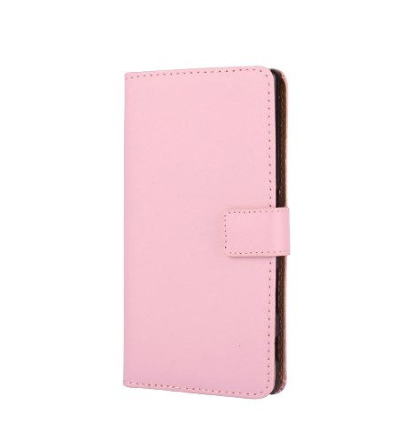 Lommebok Etui for Galaxy S6 Edge+ Genuine Rosa