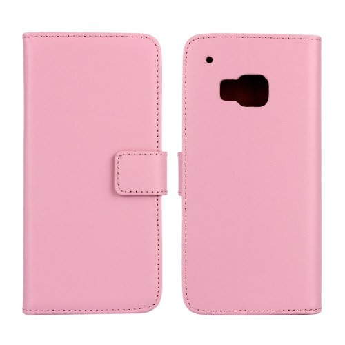 Lommebok Etui for HTC One M9 Genuine Lys Rosa