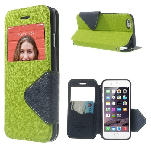 Etui for iPhone 6 Roar m/Skjermvindu Lime Grønn