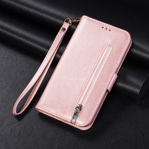 "iPhone 11 6,1"" Lommebok Etui Zipper Rosa"