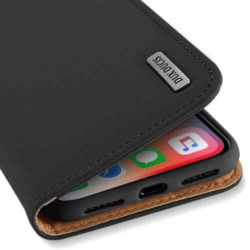 iPhone XS Max Lommebok Etui Genuine Lux Svart